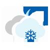 Nuboso con nieve escasa noche